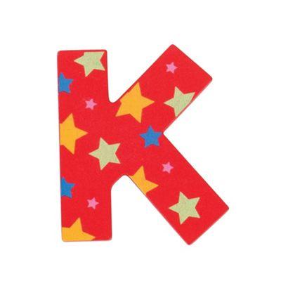 Bigjigs Toys Star Letter K (Red)