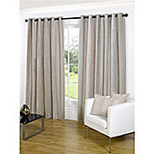 Primrose Hill Eyelet Curtains 193 x 183 cm - Stone