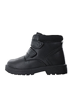 Boys Buckle My Shoe Black Ankle Boots Back to School Slip On Various Sizes - Black