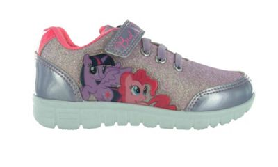 Girls MLP My Little Pony Glitter Pink with Silver Glitter Trainers Joggers UK Size 9