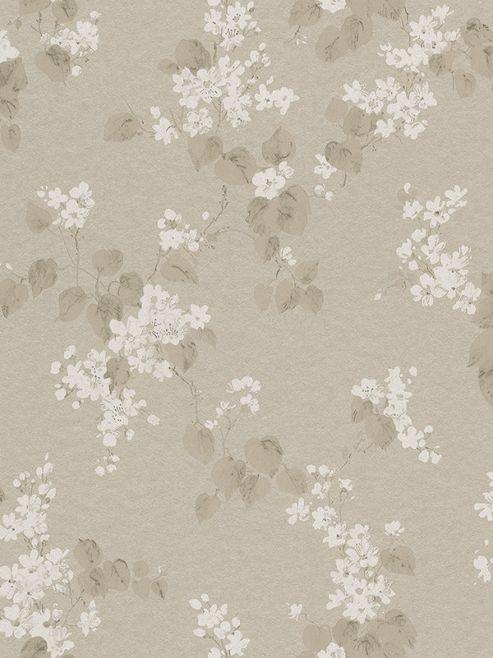Emilia Floral Blossom Wallpaper Pale Gold Rasch 501520