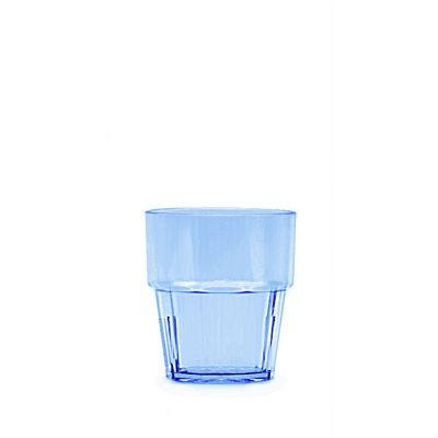 Clarity 8 oz Diamond Rock Glass - Blue (24 Pack)