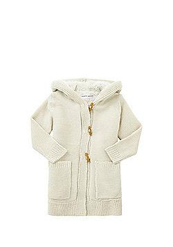 Minoti Fleece Lined Long Line Cardigan - Cream