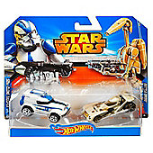 Hot Wheels Star Wars Character Car 2-Pack 501st Clone Trooper Vs Battle Droid