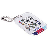 Help for Heroes Personalised Bear Keyring