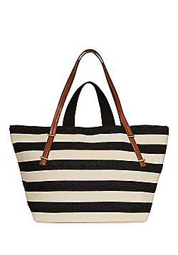 F&F Striped Canvas Oversized Tote Bag