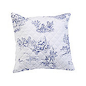 Julian Charles Toile Blue Luxury Jacquard Cushion -45x45cm
