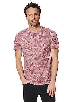 F&F Palm Print T-Shirt - Pink