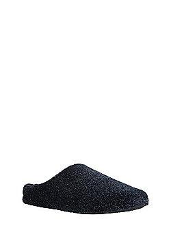 F&F Mottled Fleece Mule Slippers - Navy