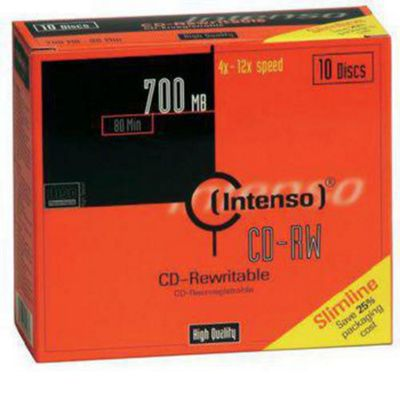 Intenso CD-RW Rewritable Slim Case 700MB 12x (10 Pack)