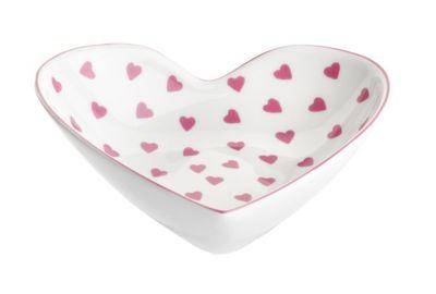 Nina Campbell Small Heart Shaped Dish, Pink Hearts Design