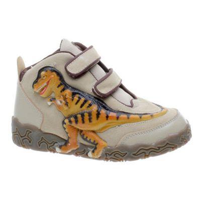 Dinosoles 3D X10 T-Rex Tan Hi Top Toddler Shoe