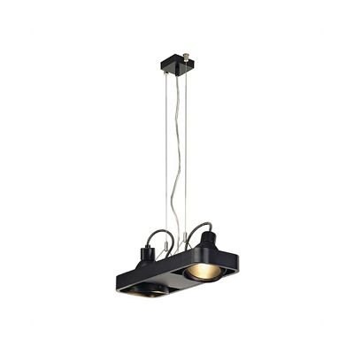 Aixlight Duo Pendant Semi-Circular Black 2X70W Without Reflector