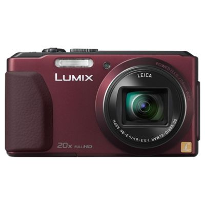 Panasonic Lumix TZ40 Digital Camera Red 18MP 20x Optical Zoom 3