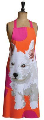 Leslie Gerry Westie Dog Design Full Apron