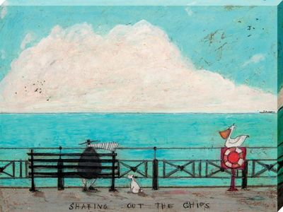 Sam Toft Sharing out the Chips Canvas Print 30x40cm