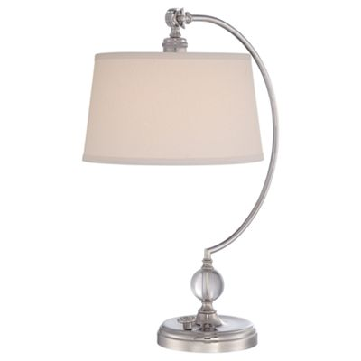 Polished Nickel Table Lamp - 1 x 100W E27