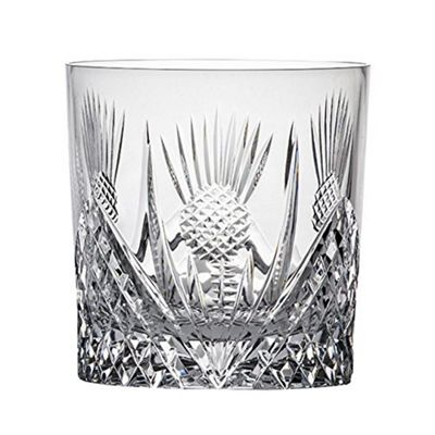 Royal Scot Crystal Scottish Thistle Large Crystal Whisky Tumbler 240ml