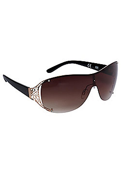 F&F Filigree Trim Sunglasses One size Brown