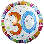 Radiant 30th Balloon - 18 inch Foil