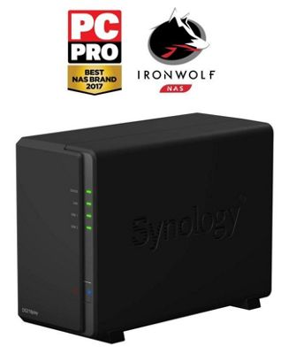 Synology DiskStation DS218play/6TB-IW 2-bay 6TB(2x3TB Seagate IronWolf) NAS designed for multimedia enthusiasts