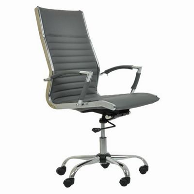 Spark Faux Leather Office Chair Grey