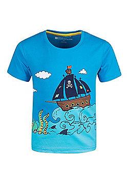 Mountain Warehouse Pirate Ship Kids T-Shirt - Blue