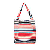 F&F Striped Blanket Tote Bag