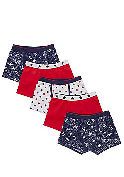 F&F 5 Pack of Graffiti and Star Trunks with As New Technology - Multi
