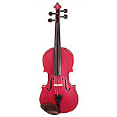 Stentor Harlequin Violin in Raspberry Pink - Full Size