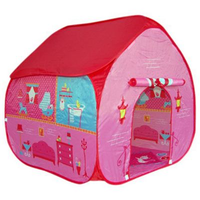 Pop-It-Up Doll's House Playtent with Home Playmat