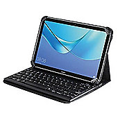 Navitech Folding Leather Folio Case Cover & Stand With Removable Bluetooth Keyboard For The Huawei MediaPad M5 8.4