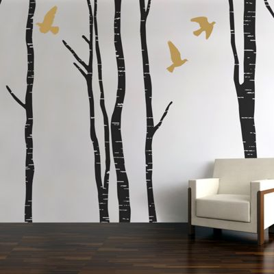 Silver Birch Forest Wall Stickers