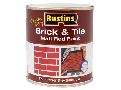 Rustins Quick Dry Brick & Tile Paint Matt Red 500ml