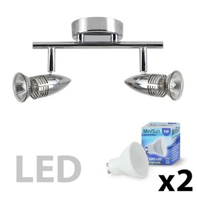 Salsa Bullet Head 2 Way LED Bar Spotlight, Chrome