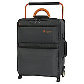 it luggage Worlds Lightest 2 Wheel Dark Shadow/Orange Cabin Suitcase