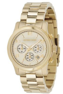 Michael Kors Ladies Gold Tone Steel Bracelet Watch MK5055