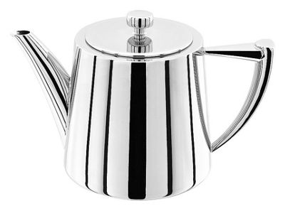 Stellar Art Deco Stainless Steel Traditional Teapot 0.9 Litre