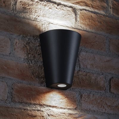 Auraglow 14w Indoor / Outdoor Double Up & Down Wall Light - Black - Cool White