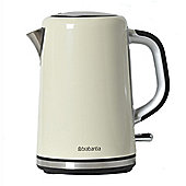 Brabantia BBEK1001-A 1.7 Litre Soft Grip Jug Kettle - Almond & Brushed Stainless Steel