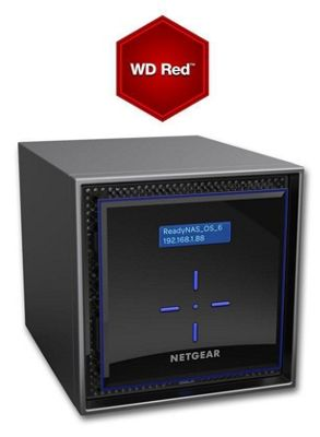 Netgear ReadyNAS RN424 4-Bay 12TB(4x3TB WD RED) High-performance Business Data Storage