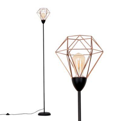 Regatta Caged Floor Lamp - Copper