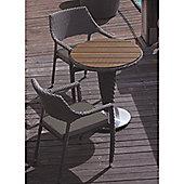 BrackenStyle Two Seat Bistro Set & Cushions - Dark Grey