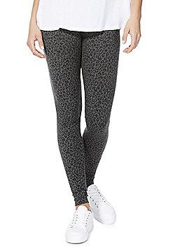 F&F Leopard Print Leggings - Grey