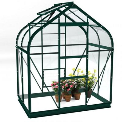 Simplicity Sherwood 6x4 Green Greenhouse Starter Package With Toughened Glass