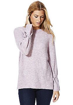 F&F Tie Sleeve Jumper - Lilac