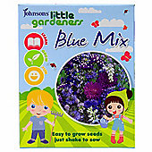Little Gardeners Flower Seed Shaker Box - Blue Flower Mix