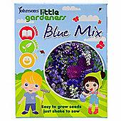 Little Gardeners Flower Seed Shaker Box - Blue Flower Mix