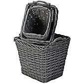 Set of 3 Rectangular Baskets