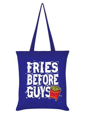 Fries Before Guys Tote Bag 38 x 42cm, Royal Blue